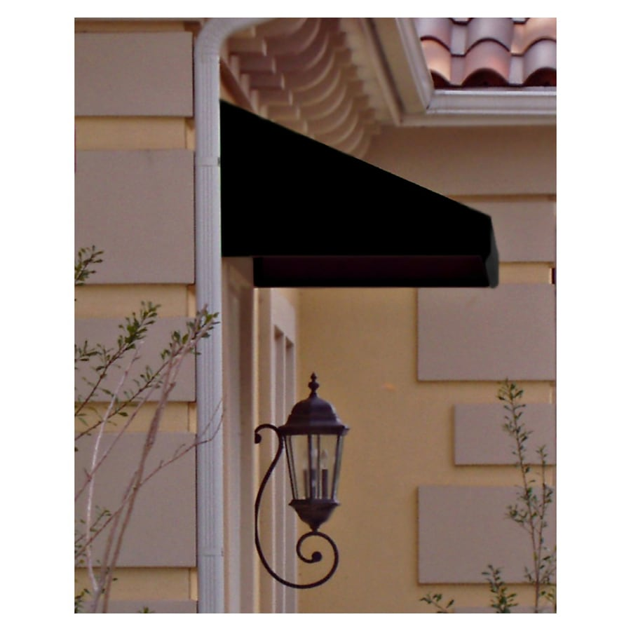 Awntech 76.5-in Wide x 42-in Projection Black Solid Slope Window/Door Awning
