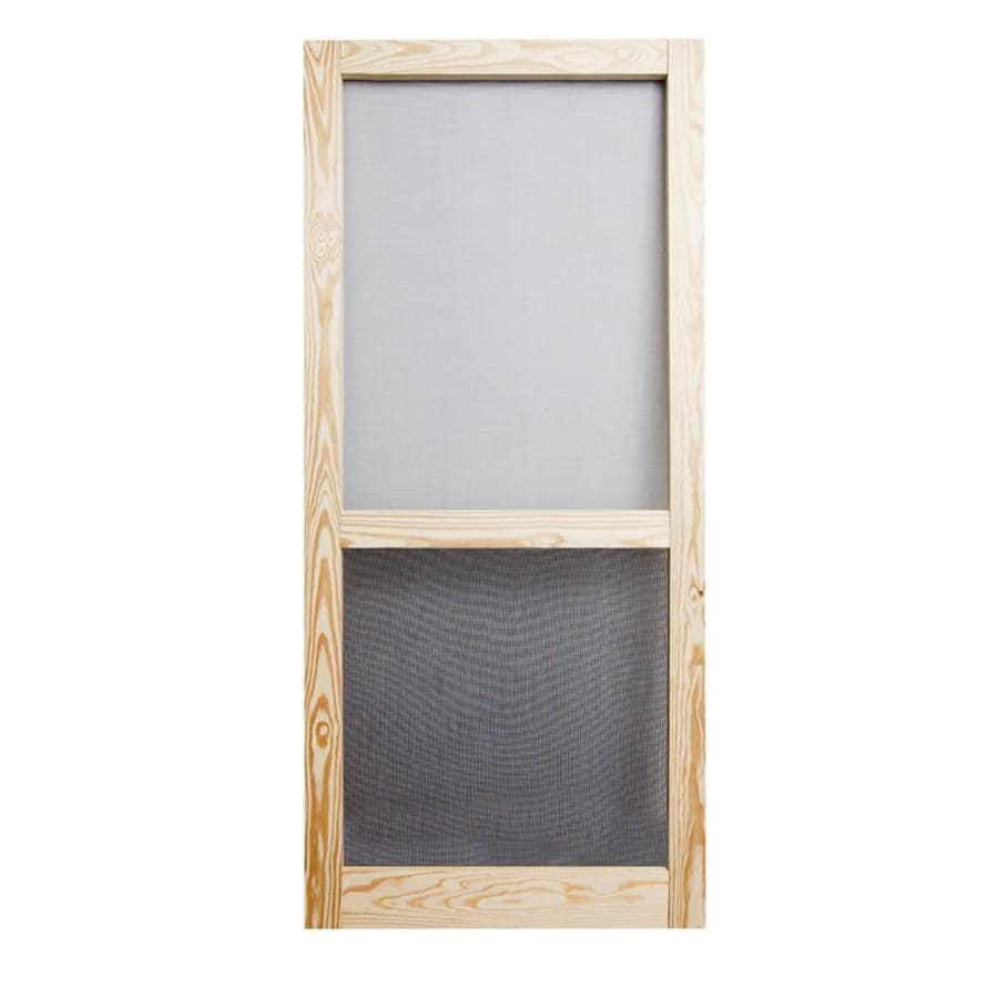 Screen Tight Liberty Pressure Treated Natural Wood Screen Door (Common: 32-in x 81-in; Actual: 32-in x 81-in)