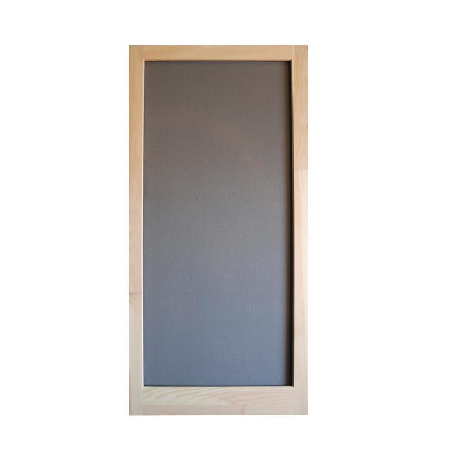 Screen Tight Meadow Natural Wood Screen Door (Common: 36-in x 80-in; Actual: 36-in x 80-in)