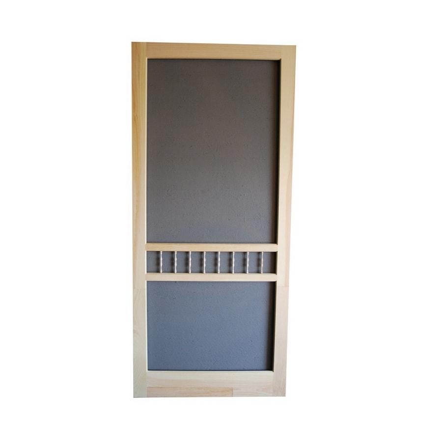 Shop screen tight arbor unfinished wood screen door for Wood screen doors