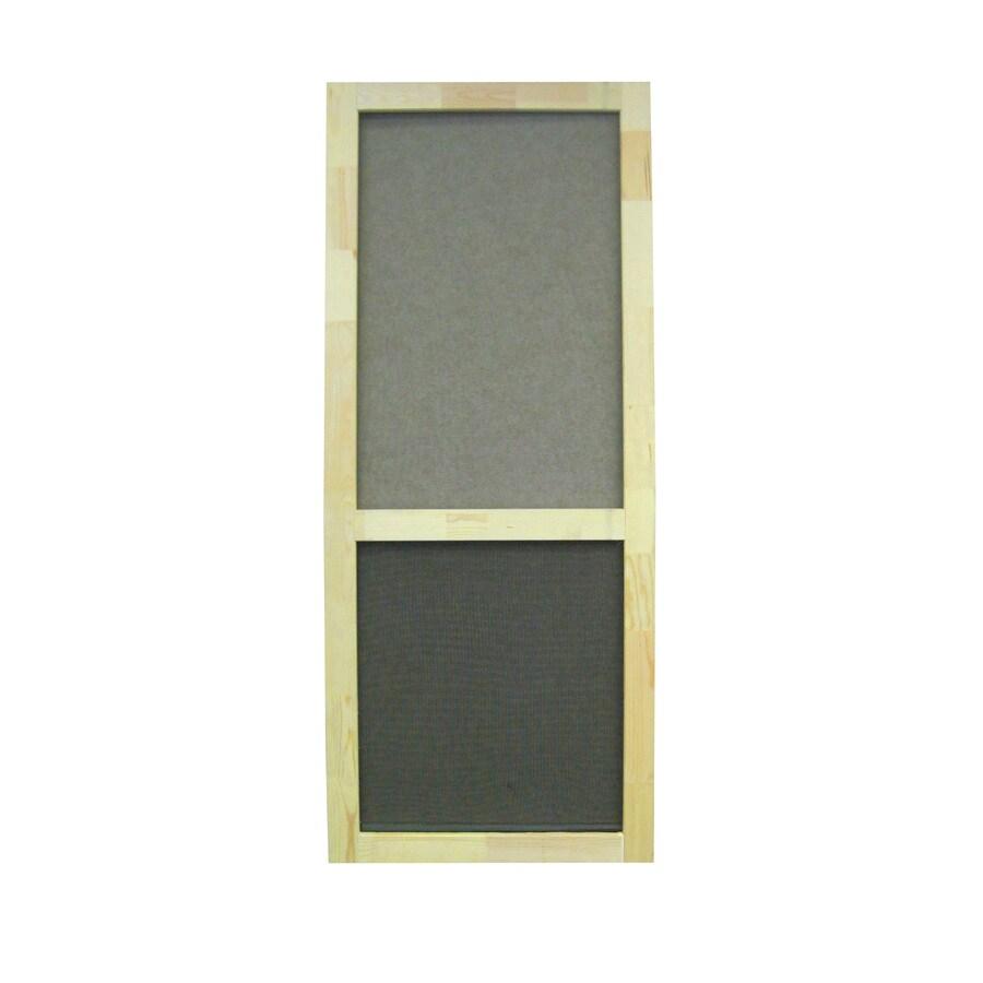 Screen Tight Liberty Natural Wood Hinged Screen Door (Common: 32-in x 80-in; Actual: 32-in x 80-in)