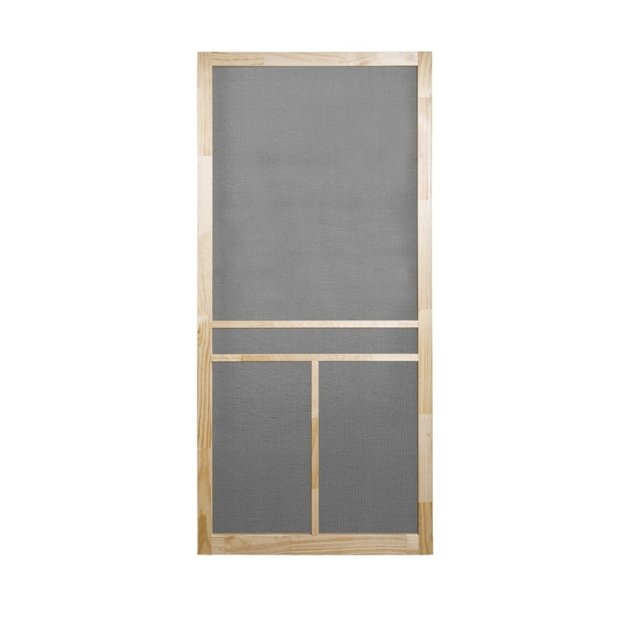 Screen Tight T-Bar Natural Wood Hinged Screen Door (Common: 32-in x 80-in; Actual: 32-in x 80-in)