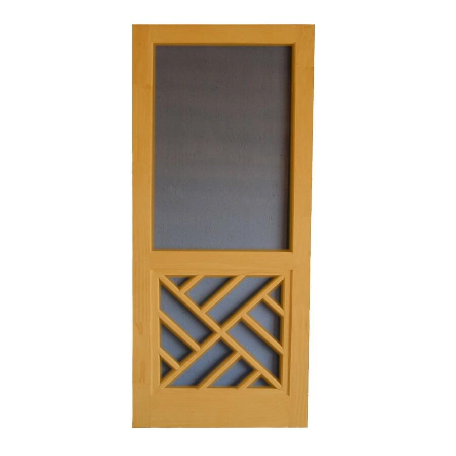 Screen Tight Chippendale Cedar Naturaltone Wood Screen Door (Common: 30-in x 80-in; Actual: 30-in x 80-in)