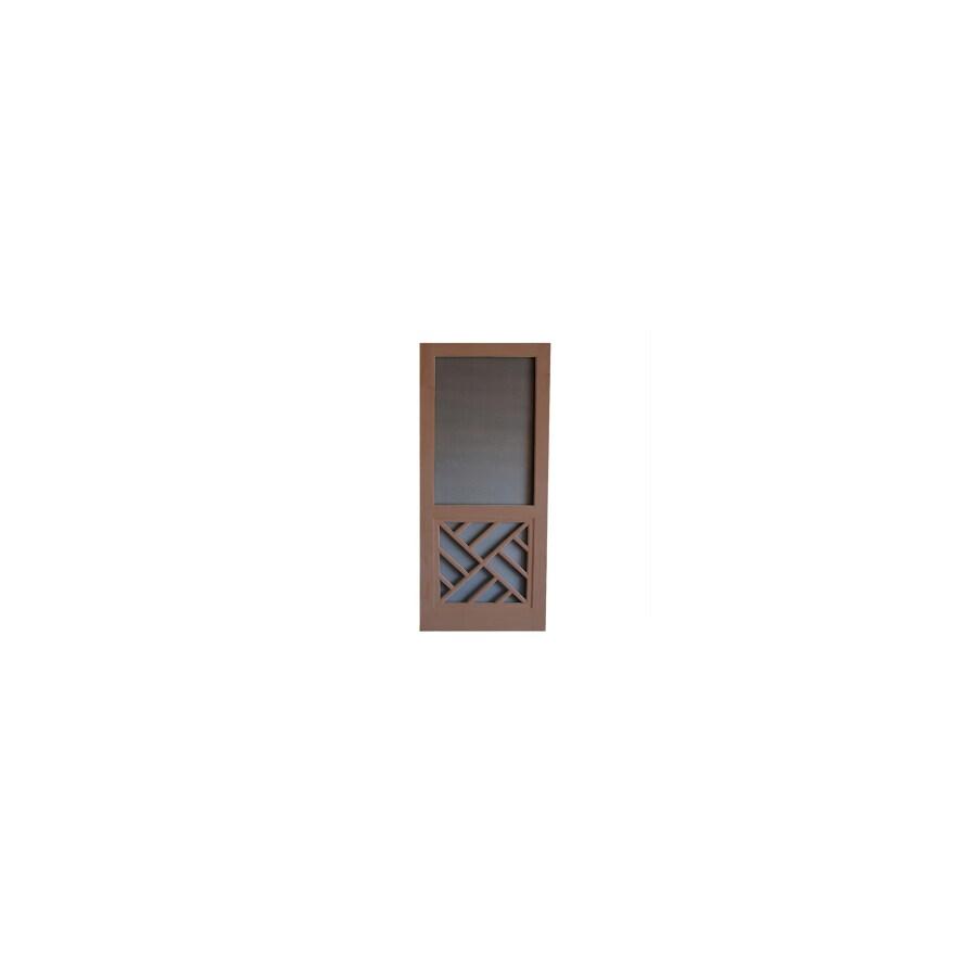 Screen Tight Chippendale Russet Wood Screen Door (Common: 36-in x 80-in; Actual: 36-in x 80-in)