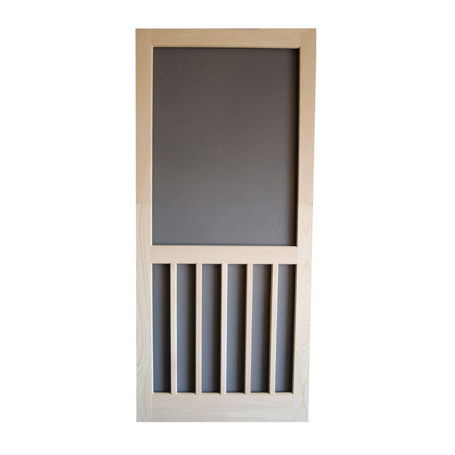 Screen Tight 5-Bar Natural Wood Screen Door (Common: 30-in x 80-in; Actual: 30-in x 80-in)