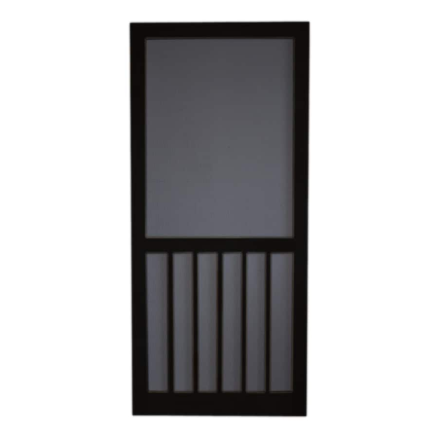 Screen Tight 5-Bar Black Wood Screen Door (Common: 30-in x 80-in; Actual: 30-in x 80-in)