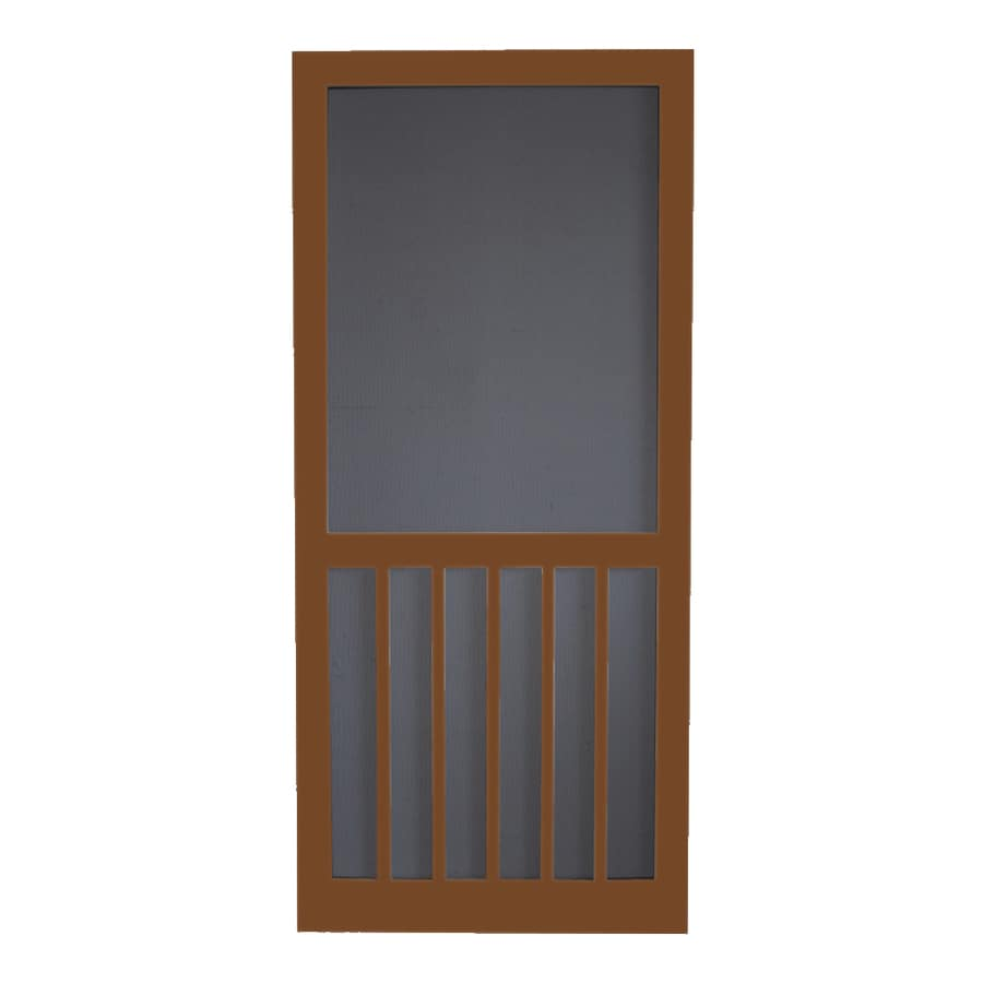 Screen Tight 5-Bar Mark Twain House Brown Wood Screen Door (Common: 32-in x 80-in; Actual: 32-in x 80-in)
