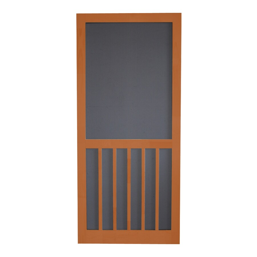 Screen Tight 5-Bar Redwood Wood Screen Door (Common: 32-in x 80-in; Actual: 32-in x 80-in)