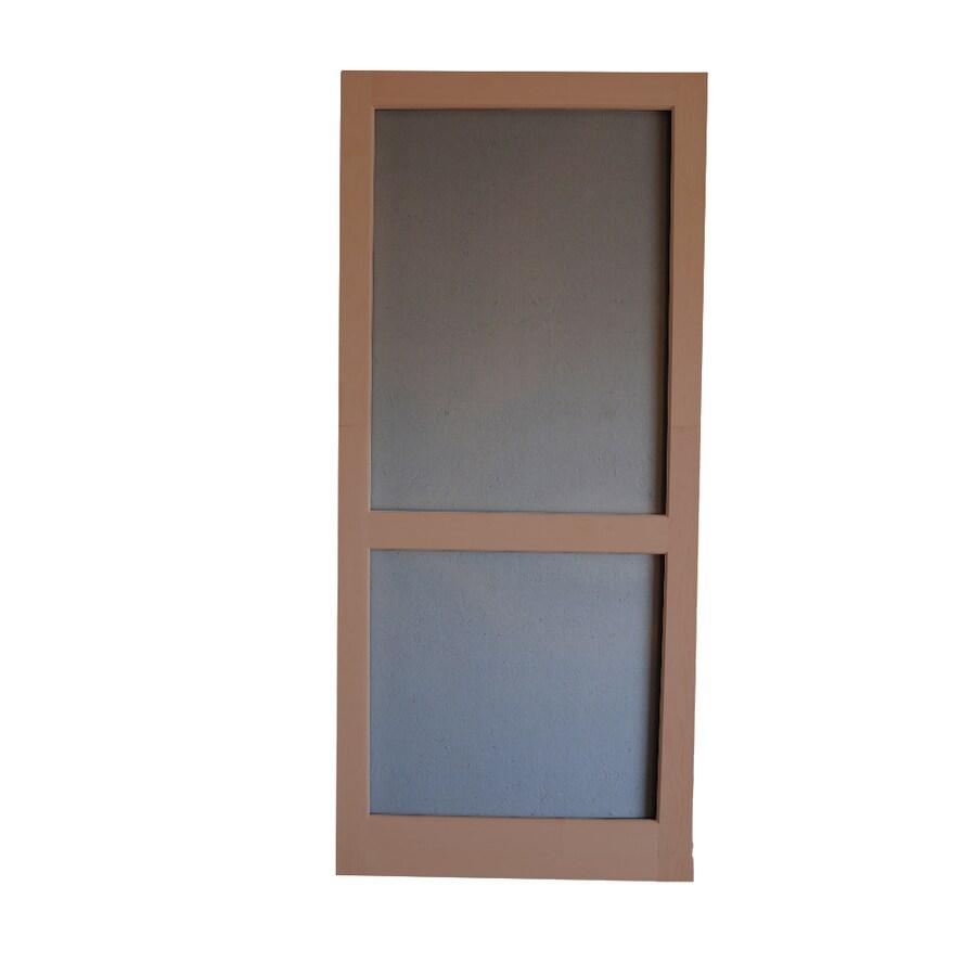 Screen Tight Woodcraft Russet Wood Screen Door (Common: 30-in x 80-in; Actual: 30-in x 80-in)