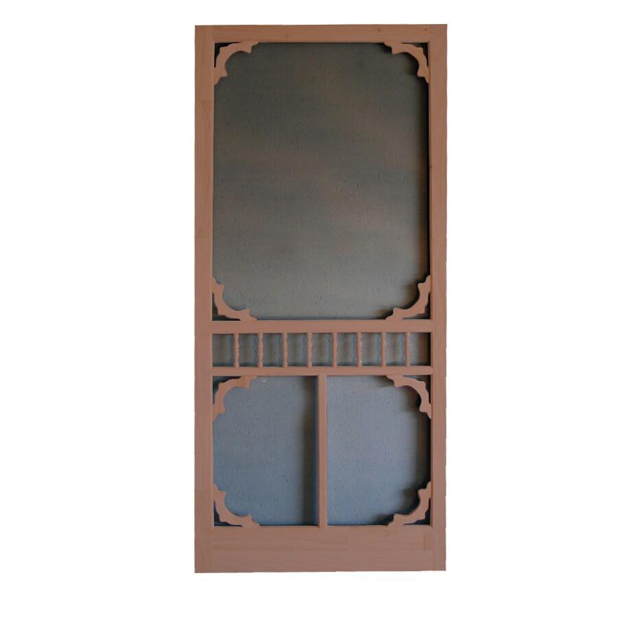 Screen Tight Colonial Russet Wood Screen Door (Common: 32-in x 80-in; Actual: 32-in x 80-in)