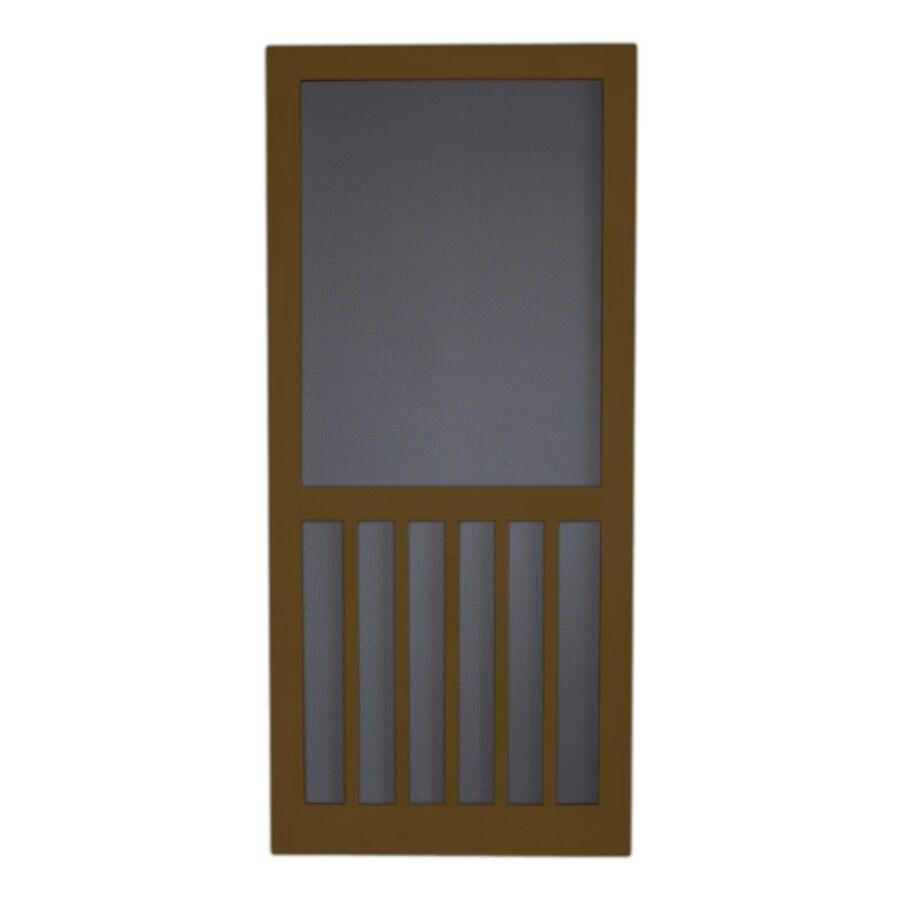 Screen Tight 5-Bar Oxford Brown Wood Screen Door (Common: 36-in x 80-in; Actual: 36-in x 80-in)
