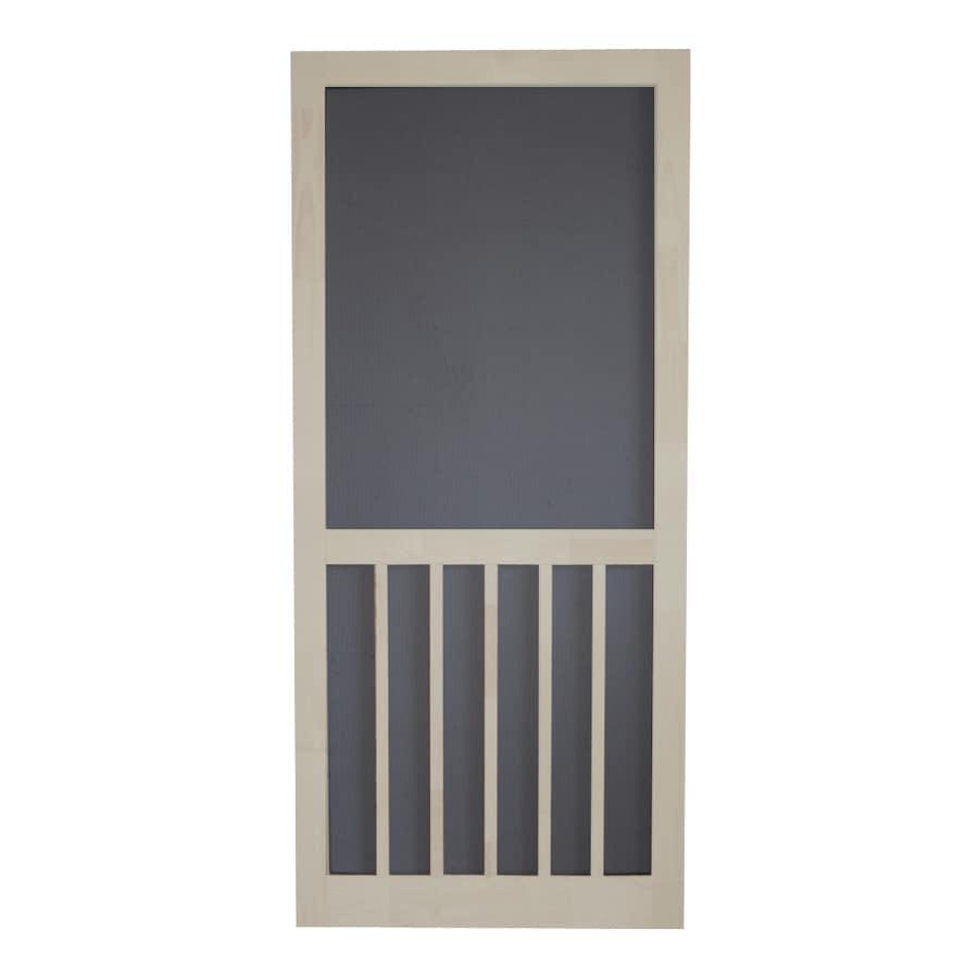 Screen Tight 5-Bar Lyndhurst Timber Wood Screen Door (Common: 36-in x 80-in; Actual: 36-in x 80-in)