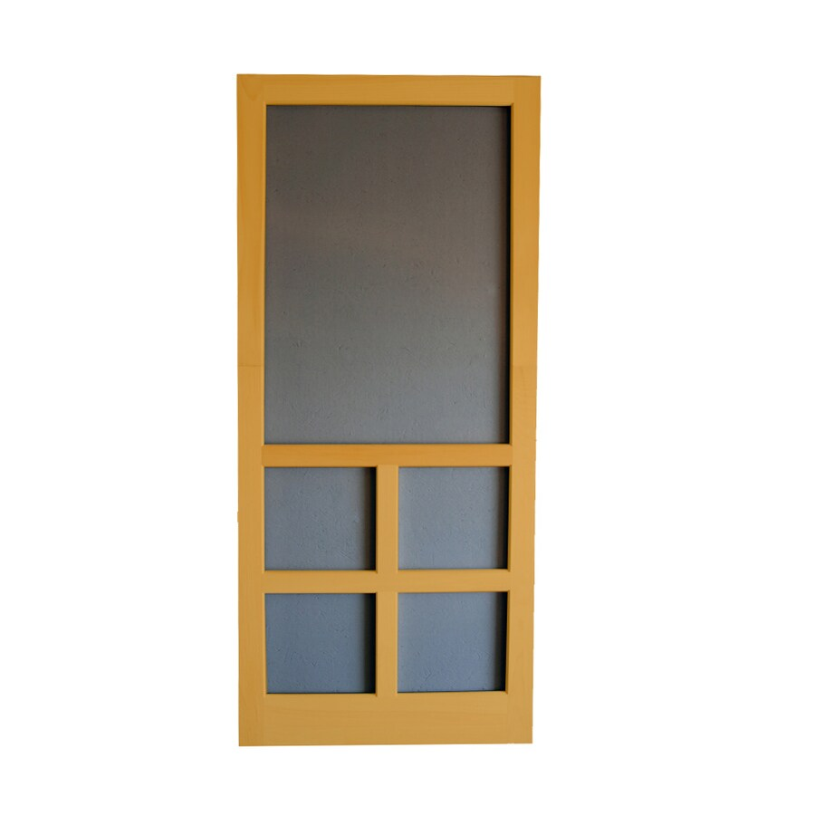 Wood Screen Doors With Removable Screens : Shop screen tight wood door common in