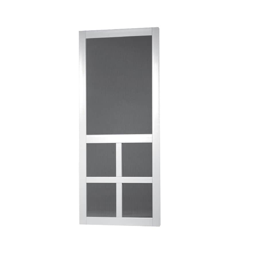 Shop screen tight white vinyl screen door common 32 in x for 32x80 storm door