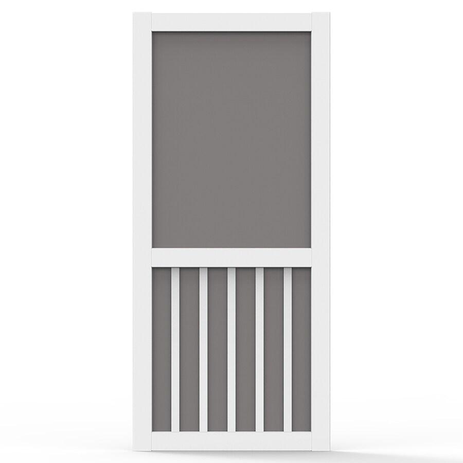 Screen Tight White Vinyl Screen Door (Common: 30-in x 80-in; Actual: 30-in x 80-in)
