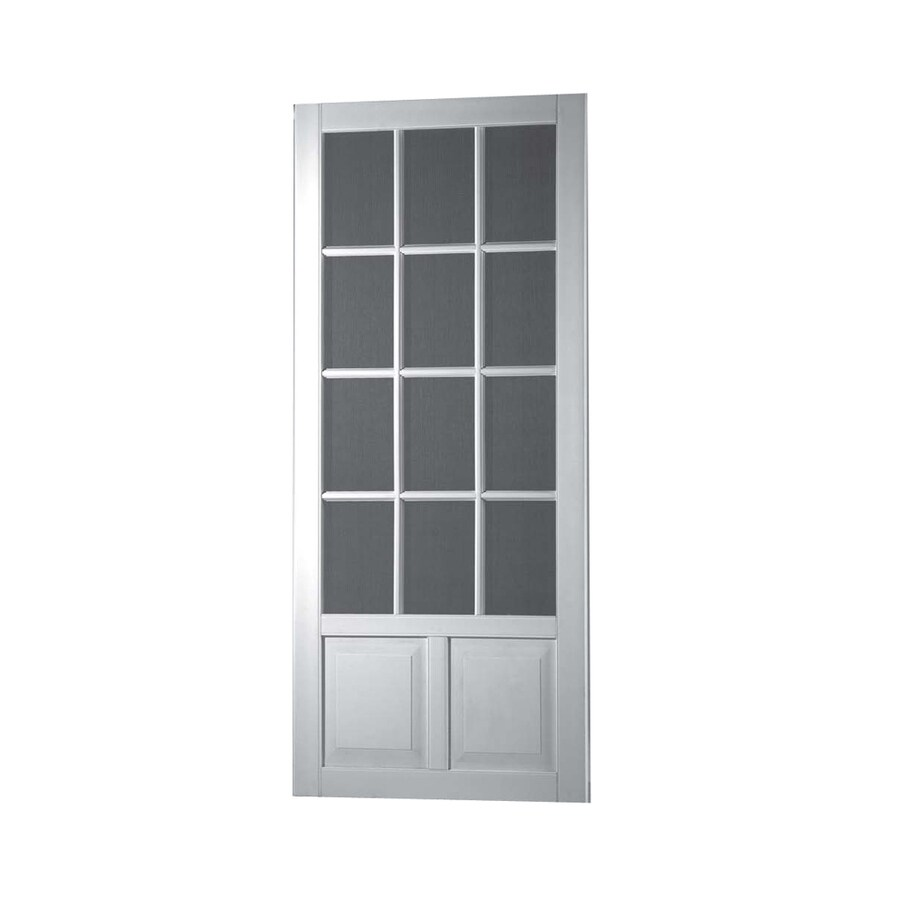 Screen Tight Wedgefield White Vinyl Hinged Screen Door (Common: 36-in x 80-in; Actual: 36-in x 80-in)