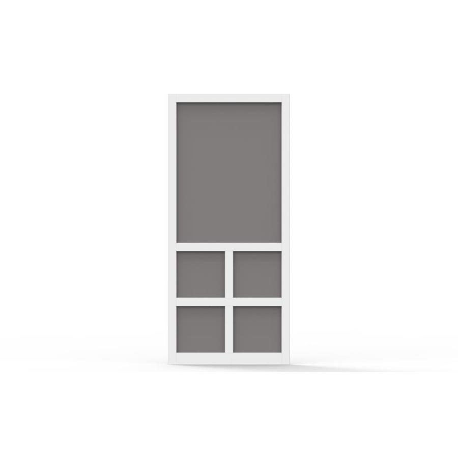 Screen Tight Lafayette White Vinyl Hinged Screen Door (Common: 36-in x 80-in; Actual: 36-in x 80-in)