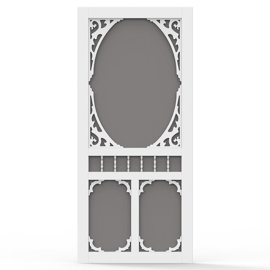 Screen Tight White Vinyl Screen Door (Common: 32-in x 80-in; Actual: 32-in x 80-in)