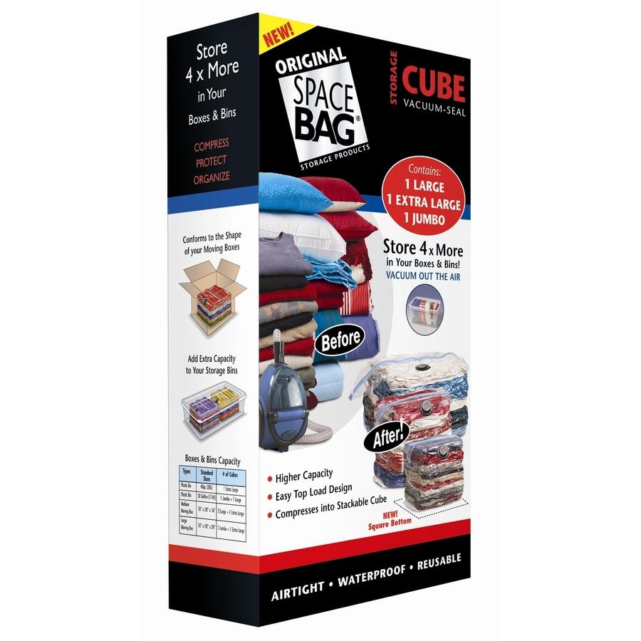 Space Bag 3-Count Plastic Storage Bags