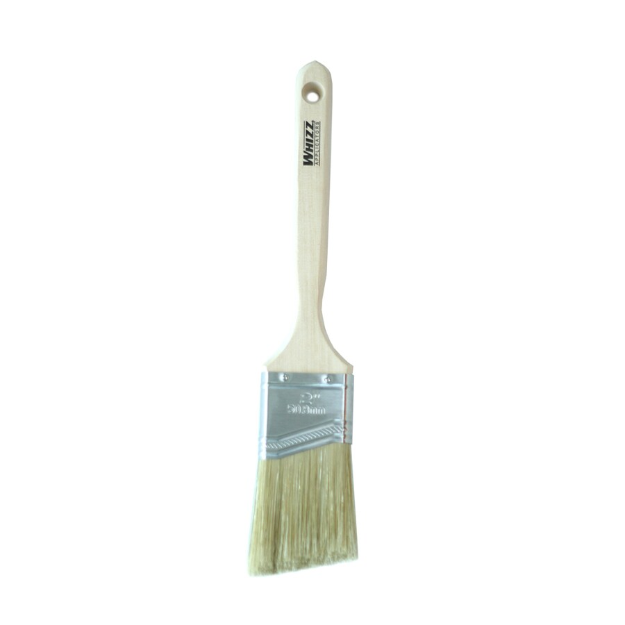 WHIZZ Natural Bristle Polyester Blend Angle Sash Paint Brush (Common: 2-in; Actual: 2.006-in)