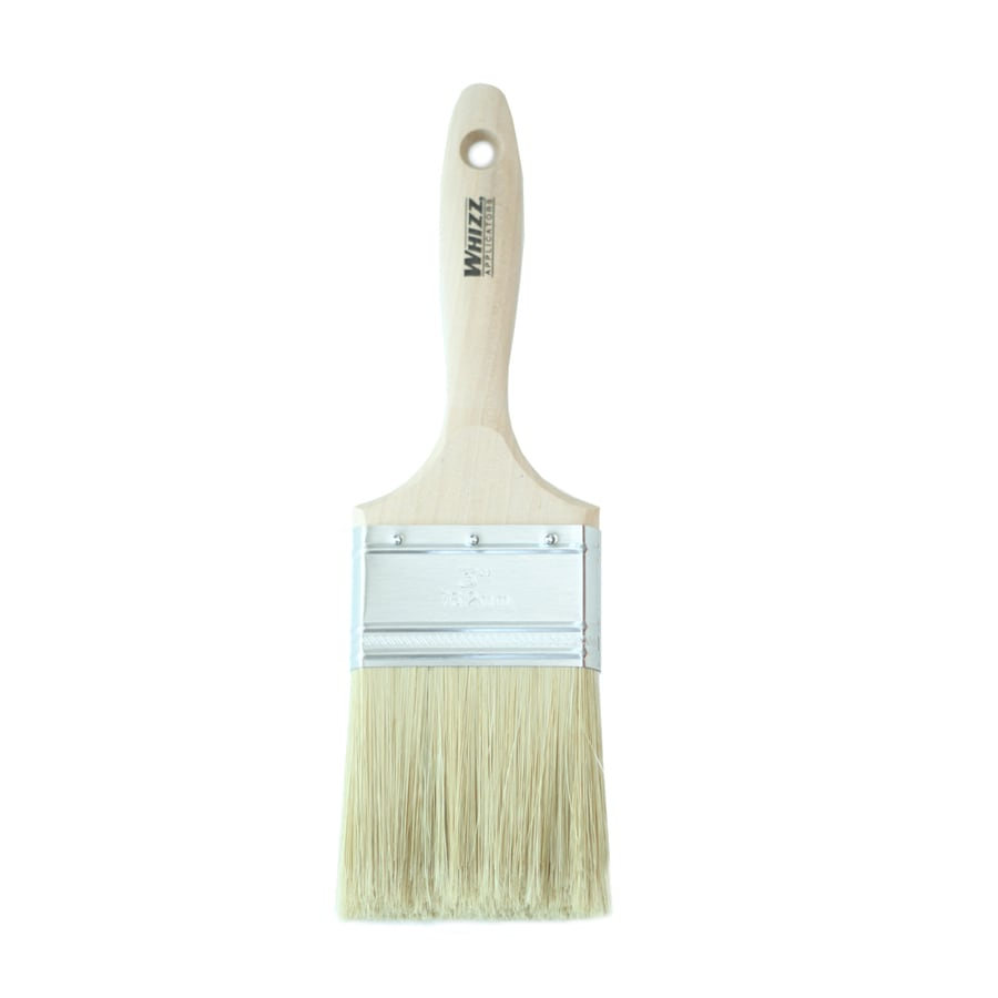 WHIZZ Natural Bristle Polyester Blend Varnish Paint Brush (Common: 3-in; Actual: 3.017-in)