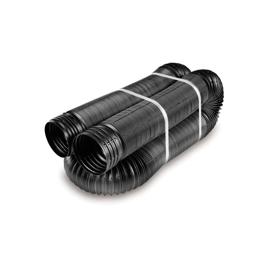 FLEX-Drain 4-in x 25-ft Corrugated Perforated Pipe