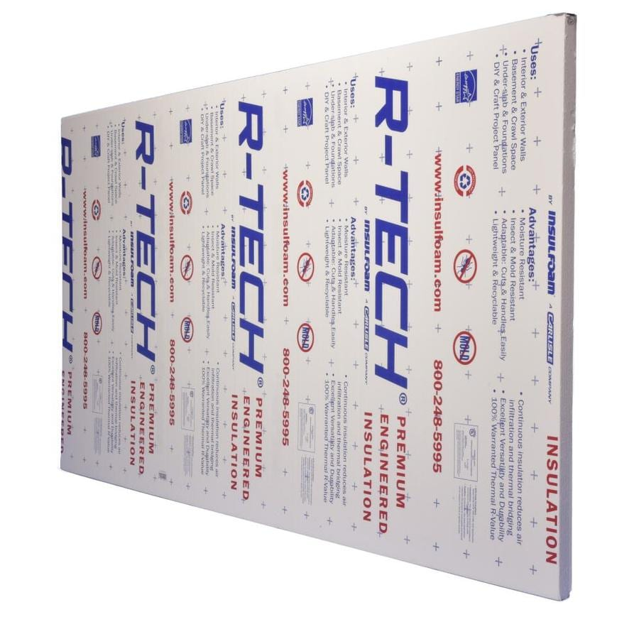 R-Tech R7.7 Faced Polystyrene Foam Board Insulation (Common: 2-in x 2-ft x 8-ft; Actual: 2-in x 2-ft x 8-ft)