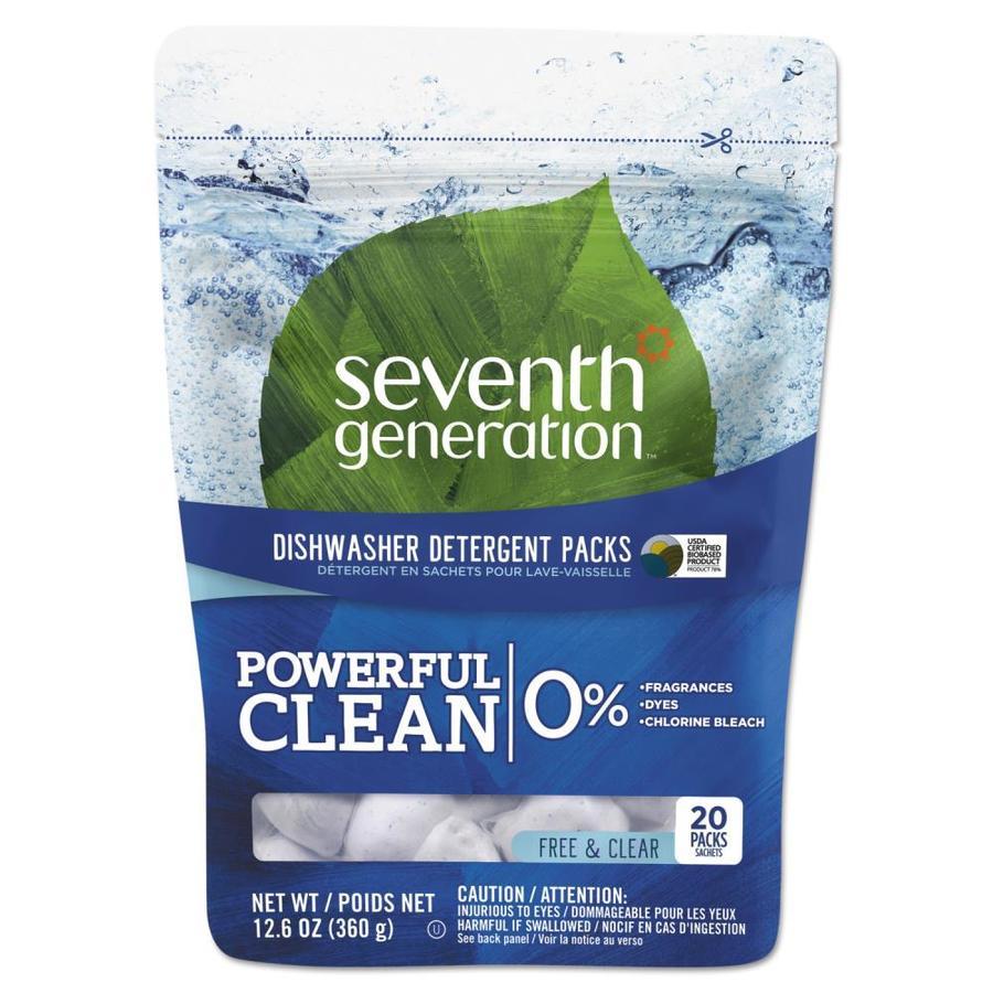 Seventh Generation Natural 20-Count Unscented Dishwasher Detergent