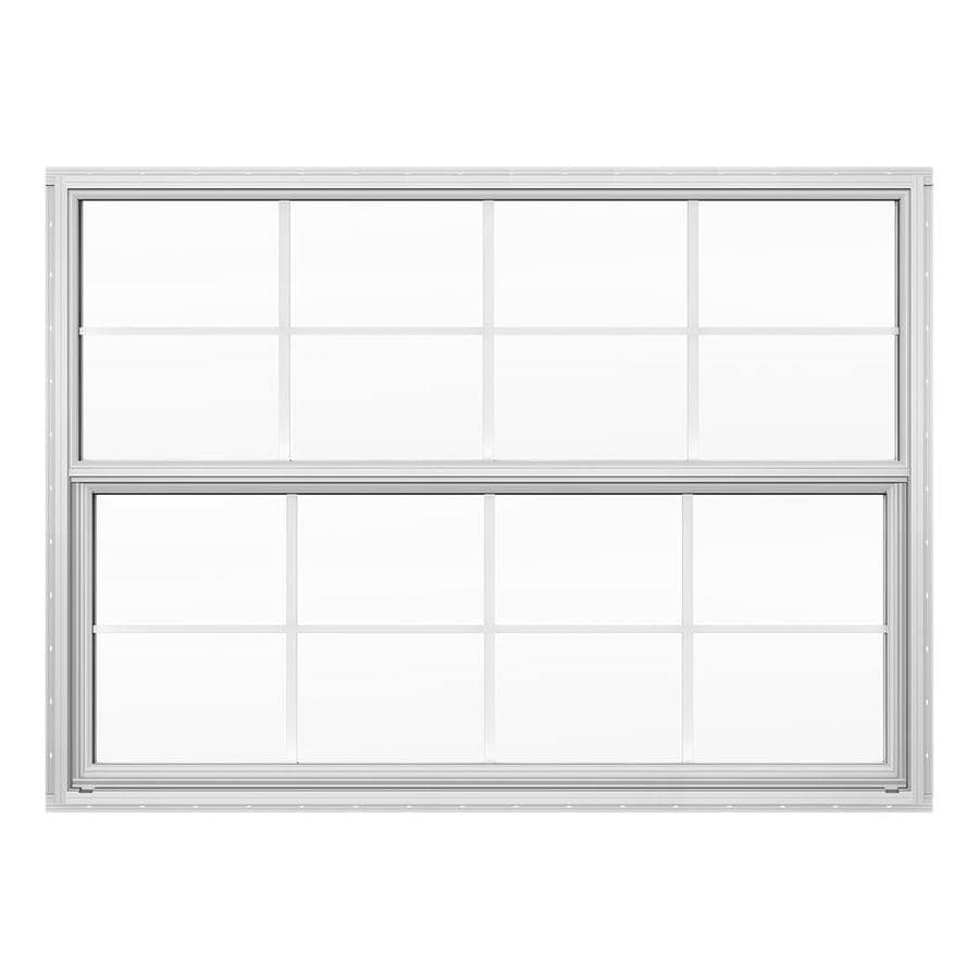 JELD-WEN 4100 Series Aluminum Double Pane Double Strength Replacement Single Hung Window (Rough Opening: 52.625-in x 37.625-in; Actual: 52.125-in x 37.375-in)