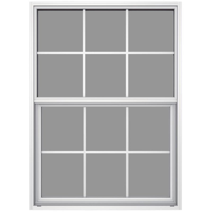 JELD-WEN 6100 Series Aluminum Single Pane Impact Replacement Single Hung Window (Rough Opening: 36.5-in x 49.875-in; Actual: 36-in x 49.625-in)
