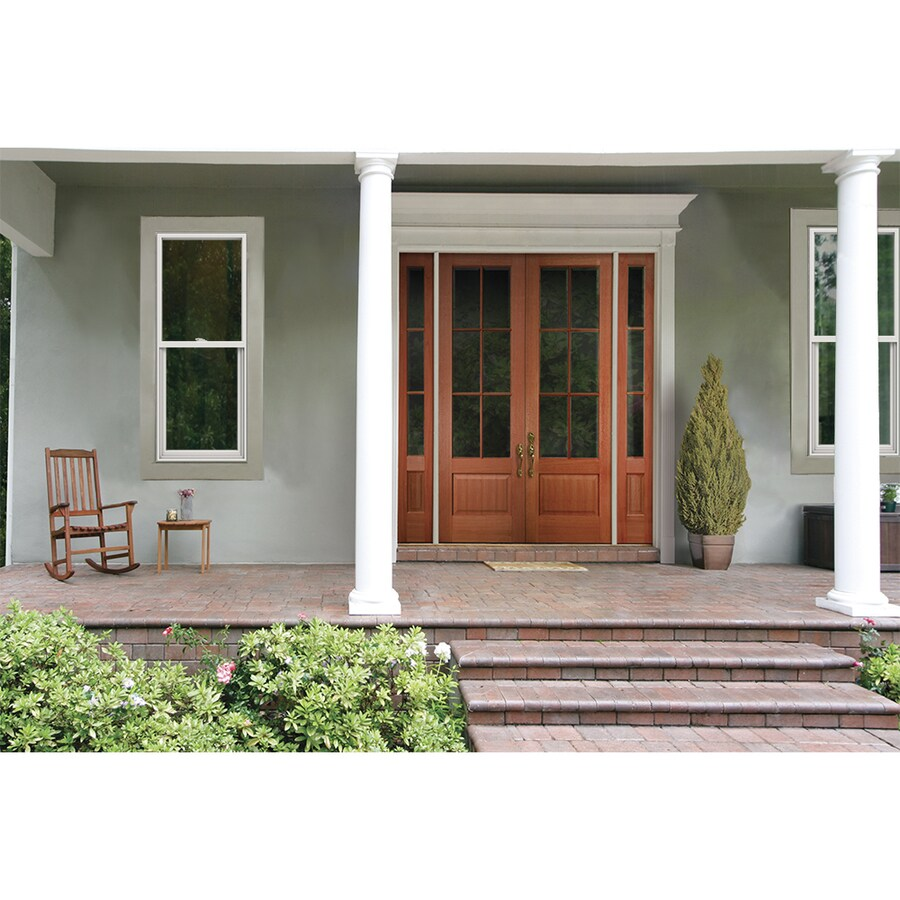 JELD-WEN V2500 Vinyl Double Pane Double Strength Single Hung Window (Rough Opening: 24-in x 60-in; Actual: 23.5-in x 59.5-in)