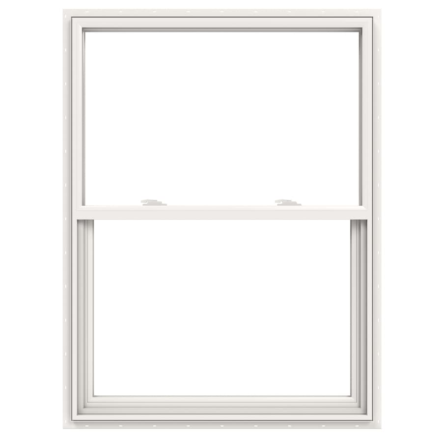 JELD-WEN V2500 Vinyl Double Pane Double Strength Single Hung Window (Rough Opening: 36-in x 48-in; Actual: 35.5-in x 47.5-in)
