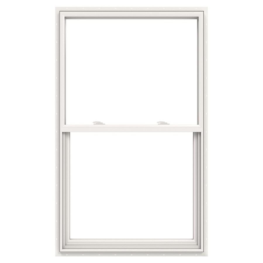 JELD-WEN V2500 Vinyl Double Pane Double Strength Egress Single Hung Window (Rough Opening: 36-in x 60-in; Actual: 35.5-in x 59.5-in)