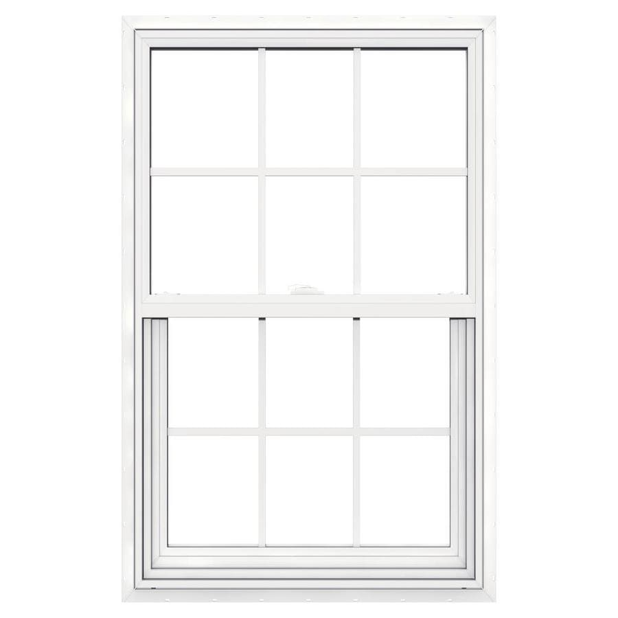 JELD-WEN V2500 Vinyl Double Pane Double Strength Single Hung Window (Rough Opening: 30-in x 48-in; Actual: 29.5-in x 47.5-in)