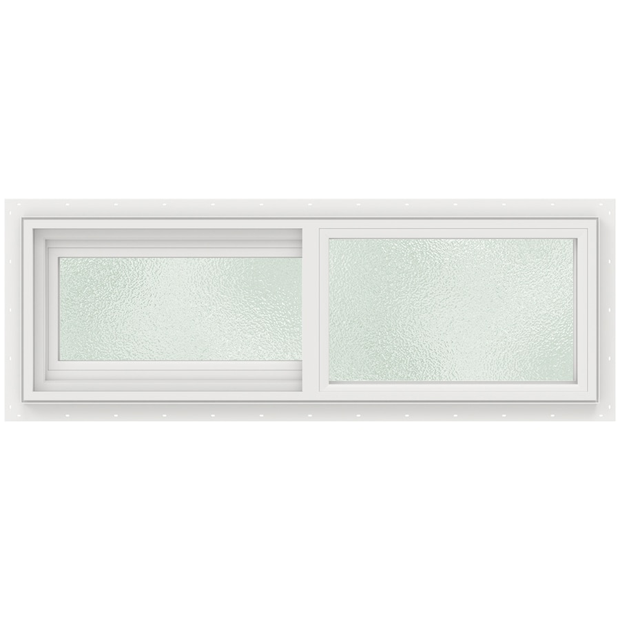 JELD-WEN V2500 Left-Operable Vinyl Double Pane Double Strength Sliding Window (Rough Opening: 36-in x 12-in; Actual: 11.5-in x 35.5-in)
