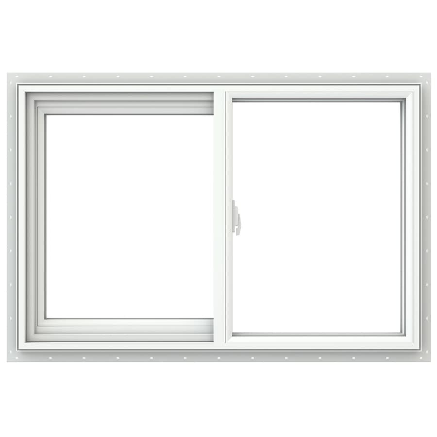 JELD-WEN V2500 Left-Operable Vinyl Double Pane Double Strength New Construction Sliding Window (Rough Opening: 36-in x 24-in; Actual: 35.5-in x 23.5-in)