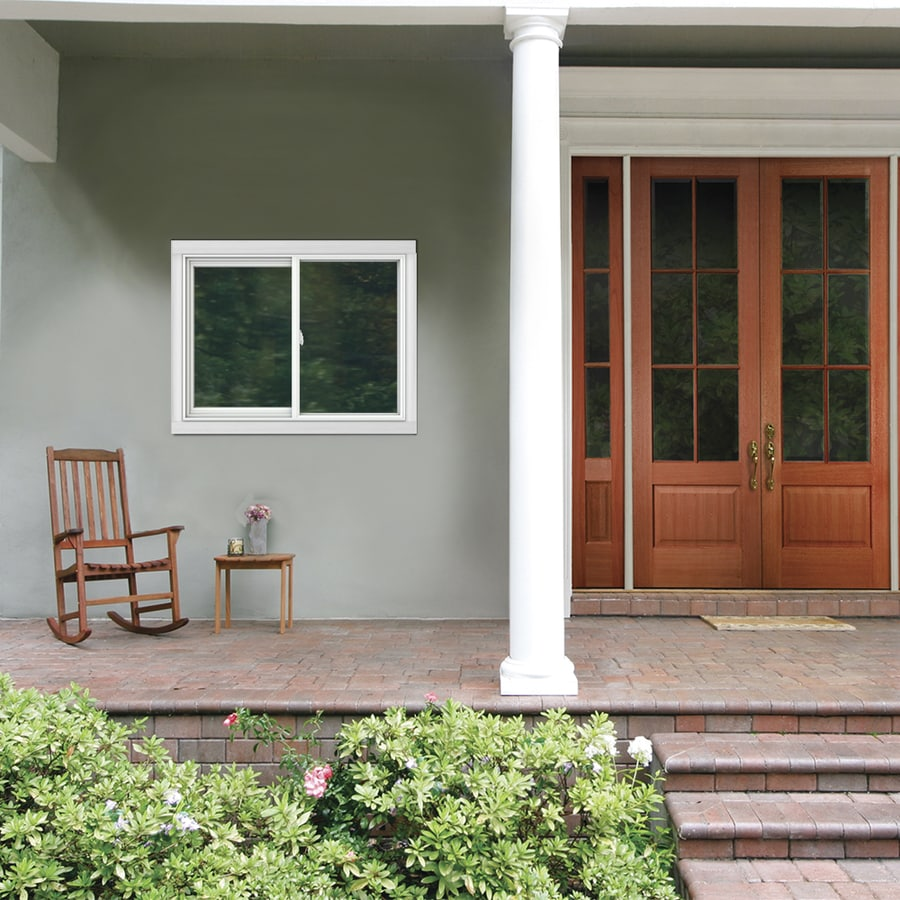JELD-WEN V2500 Left-Operable Vinyl Double Pane Double Strength Sliding Window (Rough Opening: 48-in x 36-in; Actual: 47.5-in x 35.5-in)