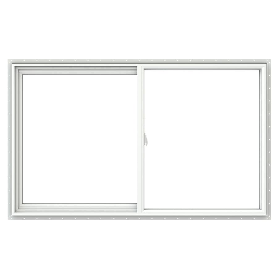 JELD-WEN V2500 Left-Operable Vinyl Double Pane Double Strength Sliding Window (Rough Opening: 60-in x 36-in; Actual: 59.5-in x 35.5-in)