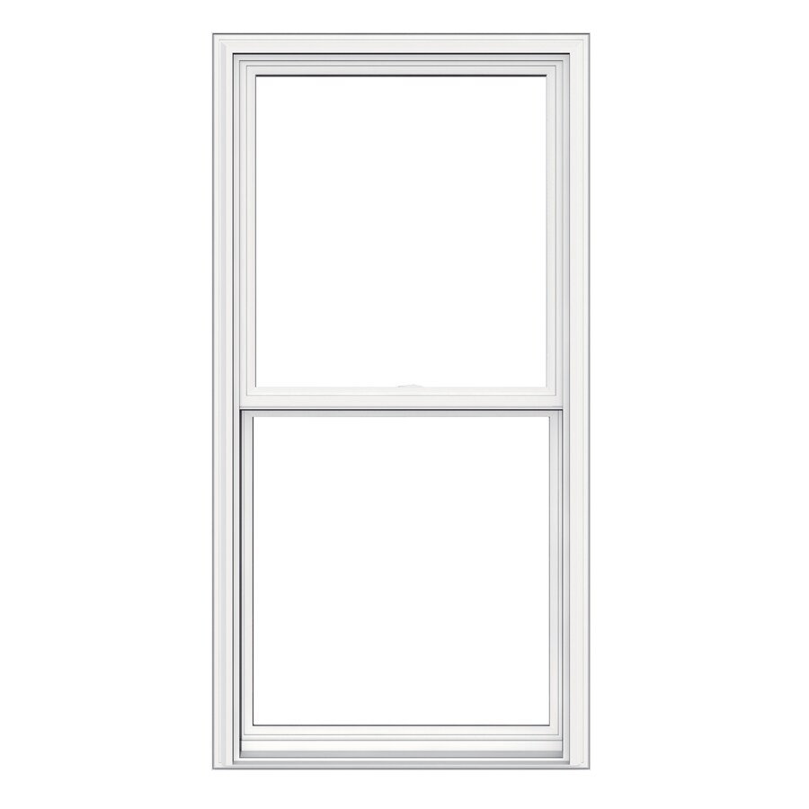 Shop jeld wen v2500 vinyl double pane double strength for Double hung replacement windows reviews