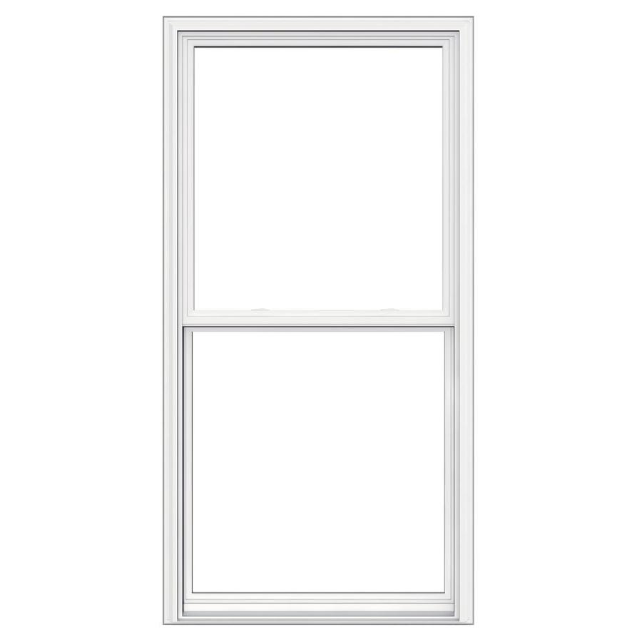 JELD-WEN V2500 Vinyl Double Pane Double Strength Replacement Double Hung Window (Rough Opening: 32-in x 62-in Actual: 31.5-in x 61.5-in)