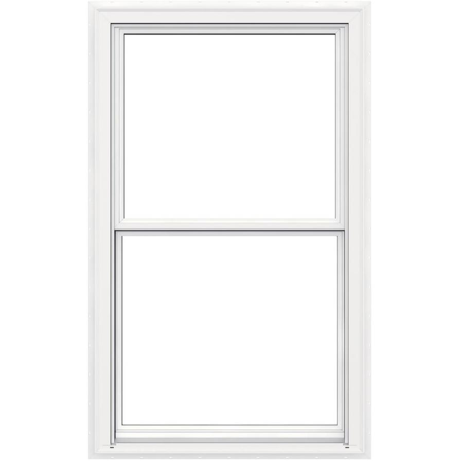 JELD-WEN V2500 Vinyl Double Pane Double Strength New Construction Egress Double Hung Window (Rough Opening: 36-in x 60-in Actual: 35.5-in x 59.5-in)
