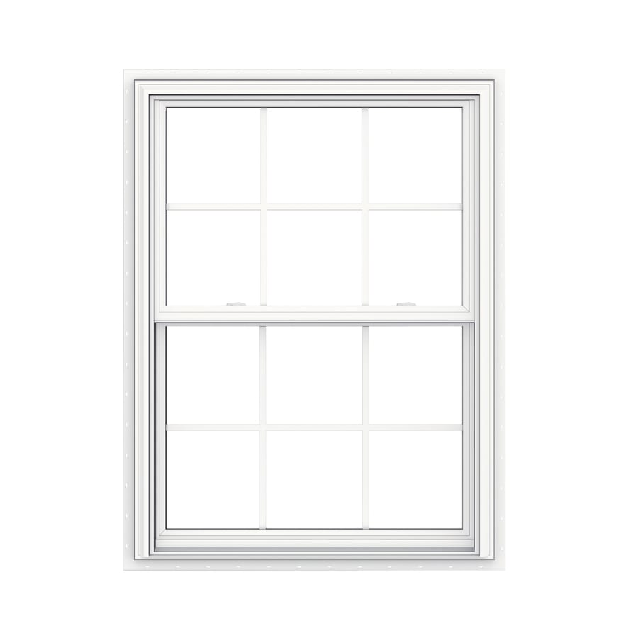 JELD-WEN V2500 Vinyl Double Pane Double Strength New Construction Double Hung Window (Rough Opening: 36-in x 48-in Actual: 35.5-in x 47.5-in)