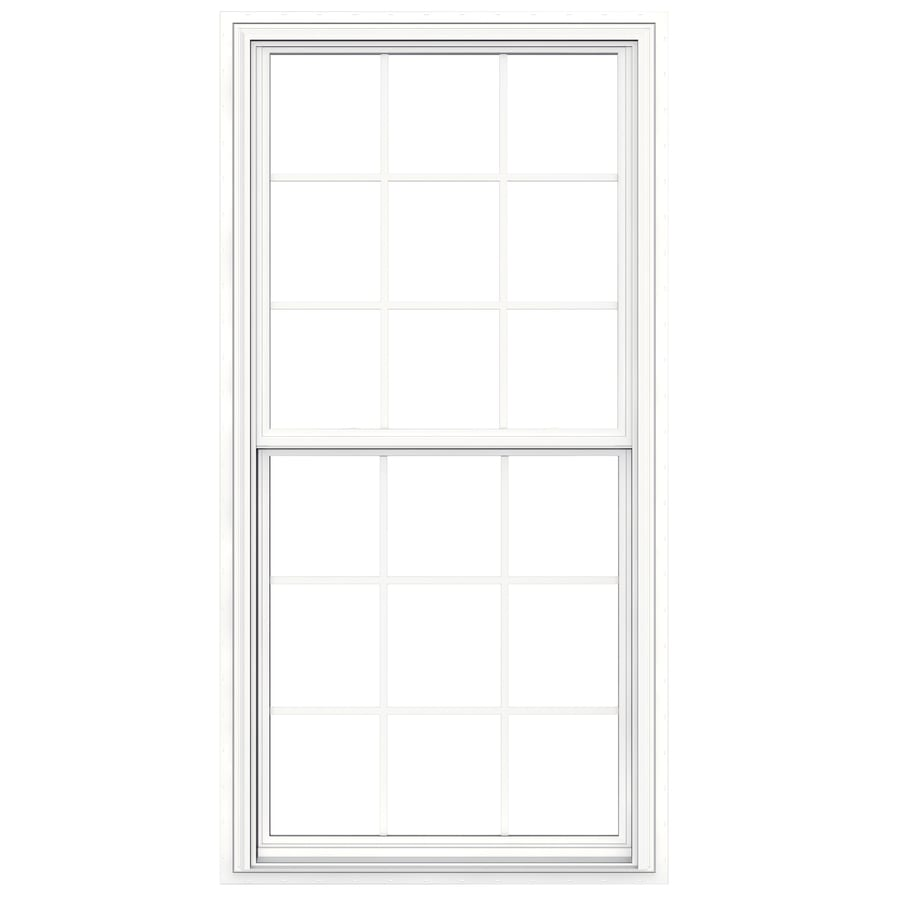 JELD-WEN V2500 Vinyl Double Pane Double Strength New Construction Egress Double Hung Window (Rough Opening: 36-in x 72-in Actual: 35.5-in x 71.5-in)