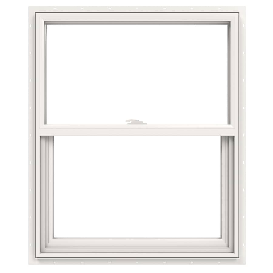 JELD-WEN V2500 Vinyl Double Pane Double Strength Single Hung Window (Rough Opening: 30-in x 41-in; Actual: 29.5-in x 40.5-in)
