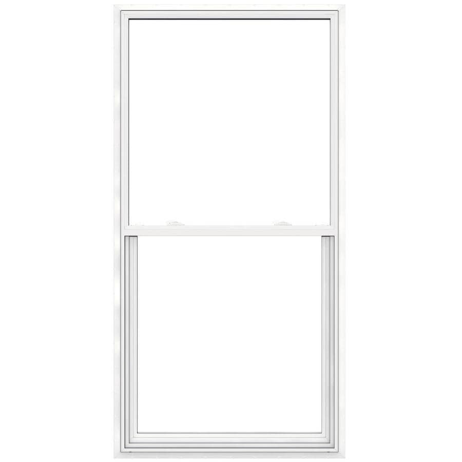 JELD-WEN V2500 Vinyl Double Pane Double Strength Egress Single Hung Window (Rough Opening: 36-in x 72-in; Actual: 35.5-in x 71.5-in)