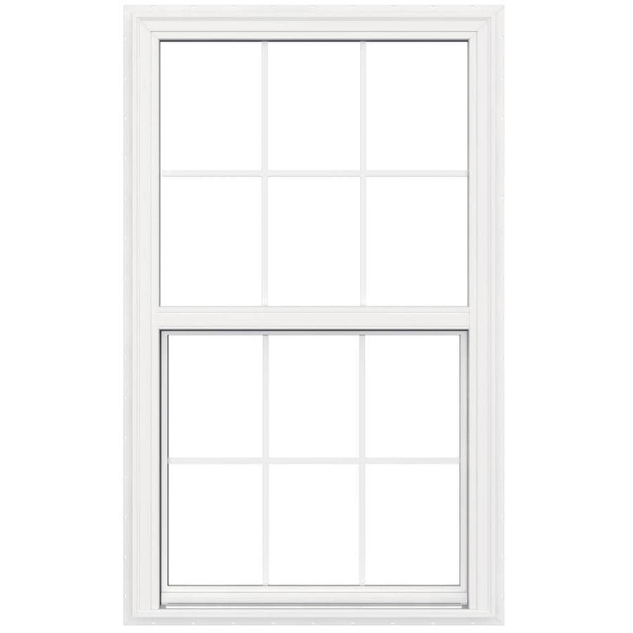 JELD-WEN V2500 Vinyl Double Pane Double Strength Egress Single Hung Window (Rough Opening: 36-in x 60-in; Actual: 35.5-in x 59.5-in)