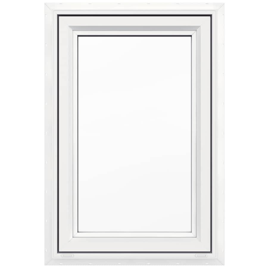 JELD-WEN V4500 1-Lite Vinyl Double Pane Double Strength New Construction Casement Window (Rough Opening: 24-in x 36-in Actual: 23.5-in x 35.5-in)