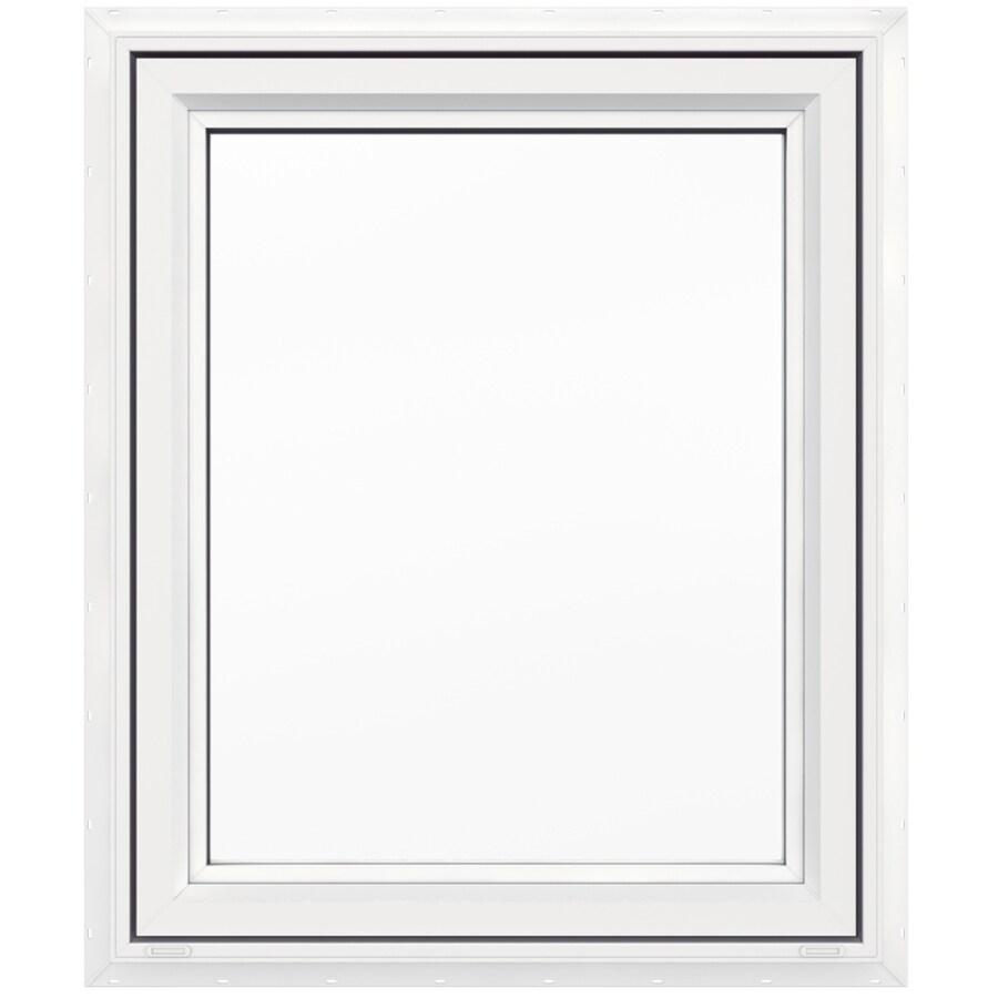 JELD-WEN V4500 1-Lite Vinyl Double Pane Double Strength New Construction Casement Window (Rough Opening: 30-in x 36-in Actual: 29.5-in x 35.5-in)