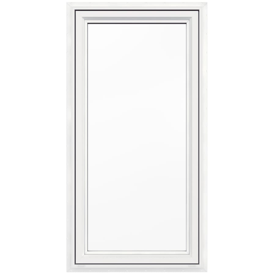 JELD-WEN V4500 1-Lite Vinyl Double Pane Double Strength New Construction Casement Window (Rough Opening: 30-in x 60-in Actual: 29.5-in x 59.5-in)