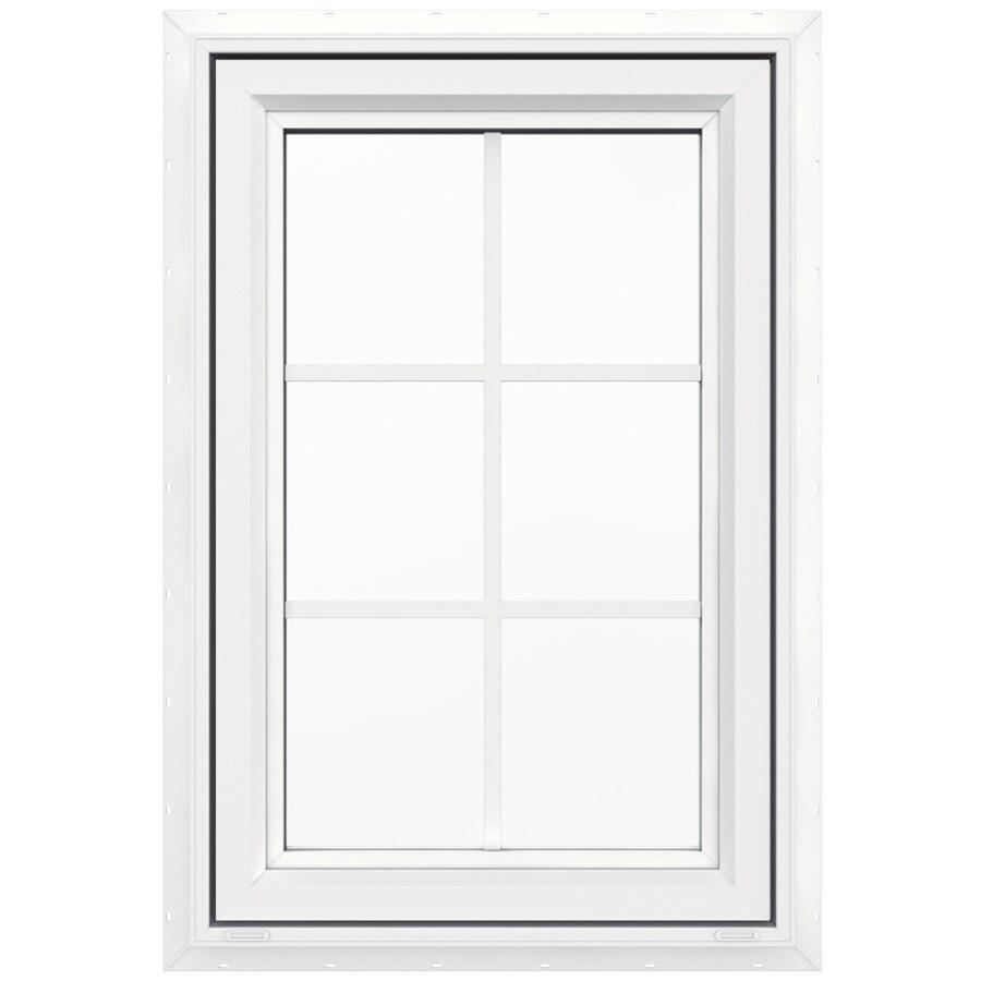 Shop jeld wen v4500 1 lite vinyl double pane double for New construction windows reviews